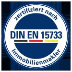 Unser Unternehmen ist zertifizierter Immobilienmakler nach DIN EN 15733.
